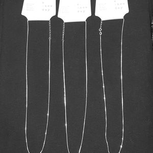 3 NWT STERLING SILVER CHAINS